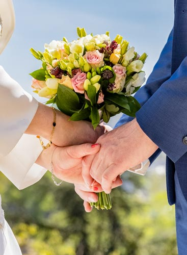 Photographie mariage bouquet de la mariée